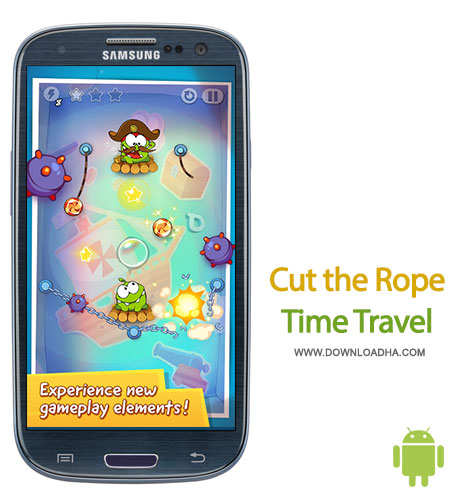 cut the rope time travel android بازی زیبا و محبوب Cut the Rope: Time Travel HD   اندروید