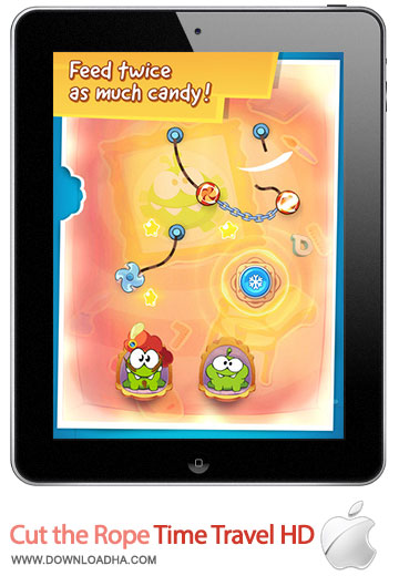 cut the rope time travel hd بازی زیبا و محبوب Cut the Rope: Time Travel HD   آیپد