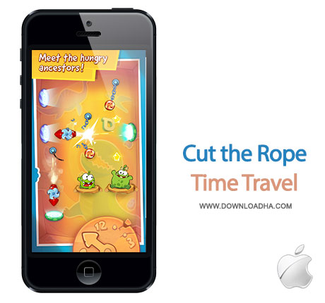 cut the rope time travel بازی زیبا و محبوب Cut the Rope: Time Travel   آیفون